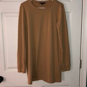 Tan long sleeved t shirt dress